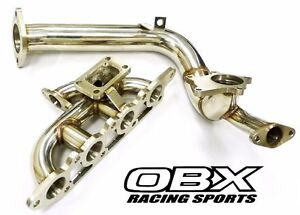 Obx Racing Turbo Manifold For 2000 Thru 2004 Ford Focus 2 0l Zx3 Zetec With Dp
