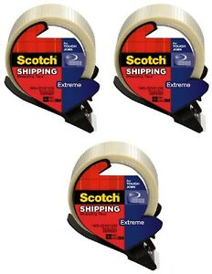 3 3m Scotch 8959 rd 1 88 X 21 8yd Extreme Strapping Shipping Tape W Dispenser
