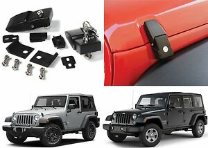 Aluminum Locking Hood Catch Latches For 2007 2017 Jeep Wrangler New Free Ship
