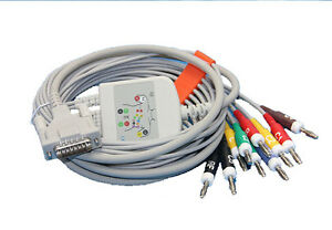10 Lead Ekg Cable For Schiller Banana 4 0 15 Pin Compatible