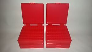 BERRY'S PLASTIC AMMO BOXES (4) RED 100 Round 9MM  380 - FREE SHIPPING