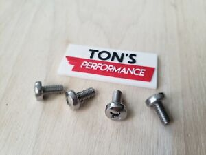 Oem Replacement 4 Audi Luxury Auto License Plate Screws Stainless Steel Bolts