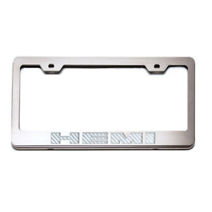 Acc Plate Frame White C fiber hemi Inlay Fits Challenger charger stainless
