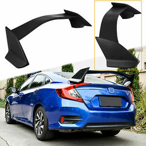 For 2016 2017 2018 Honda Civic Sedan 4dr Type R Style Spoiler Trunk Wing Black