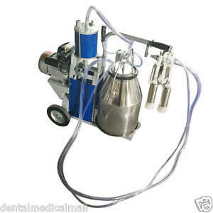Electric Cow Piston Milking Milker Machine For Cows Bucket From Canada Warehouse