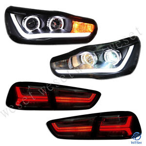 Led Headlights Tail Lights For Mitsubishi Lancer Evo X 2008 2017 Front Rear Lamp