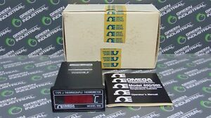 New Omega Model 650 Type J Thermocouple Microprocessor Digital Thermometer