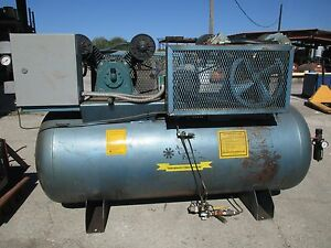Air Compressor Two Stage Duplex Challenge Curtis Dryer Two Options For Sale