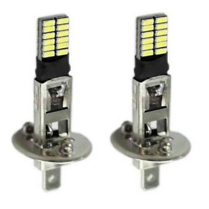 2x H1 Halogen 24 led 12v Car Fog Bulbs Driving Lights Super White 6500k