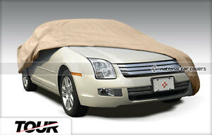 New Full Car Covers Breathable Outdoor Universal Car Covers Tan