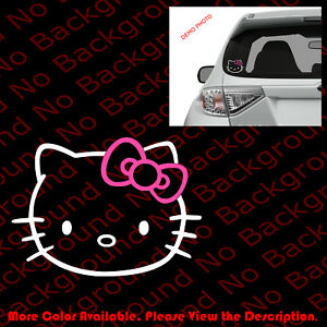 Hello Kitty Head Die Cut Vinyl Decal Sticker For Phone Car Window Laptop Hk001