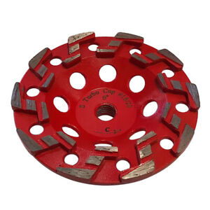 5 Aggressive Diamond Grinding Concrete Cup Wheels 5 8 11 Arbor 20 25 Grit