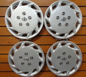 Set Of 4 14 Silver Toyota Camry Hubcaps 1997 1999 Camry Wheel Covers New