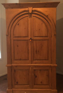 Last Chance Charming Country French Arrmoir Or Wardrobe With Arched Doors