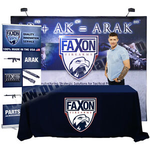 Trade Show Pop Up Display Banner Stand Kiosk 4 Meter Expo Package exp 4m v02