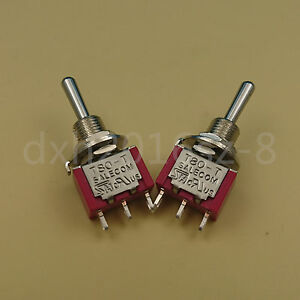 50pcs Salecom T8014a Momentary on off on 3pin 3position Mini Toggle Switch