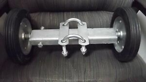 Double Wheel Roll Gate Carrier Wheels Clamp On Industrial Master Halco Slide New