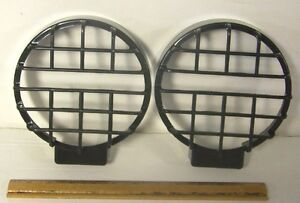 2 4x4 6 Inch Off road Stone Rock Guards Grille Covers Fog Lights Driving Lamps