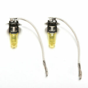 2x H3 Halogen 3000k 55w Fog Lights Driving Light Bulbs Yellow Bulb Car truck suv