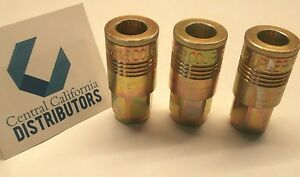 Milton 1803 P Style Air Hose Fittings Couplers 3 Pack 1 4 Npt