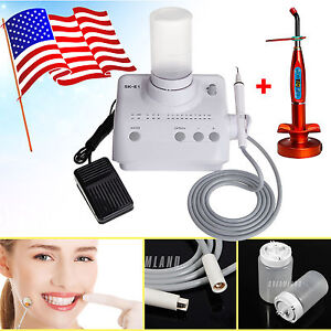 Usa Dental Ultrasonic Piezo Scaler For Ems woodpecker W Led Curing Lamp Light C