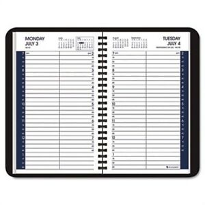 Recycled Daily Academic Appointment Book Black 4 7 8 X 8 2013 2014 2 Pack