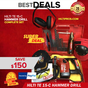 Hilti Te 15 c Hammer Drill Preowned Free Thermo Bits Extras Quick Ship