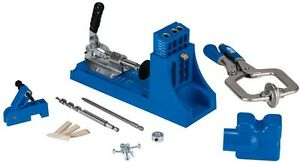 Kreg Jig Master System W Dust Collection Attachment Removable 3 hole Drill Guide