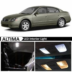 10x White Interior Map Dome Led Lights Package Kit Fit 2002 2006 Nissan Altima