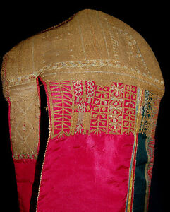 Rare Antique Central Asian Silk Hat Gold Embroidery