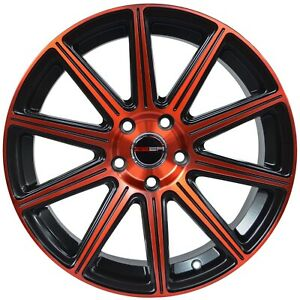 4 Gwg Wheels 18 Inch Red Mod Rims Fits Et40 Volvo C70 Cabriolet 2000 2004