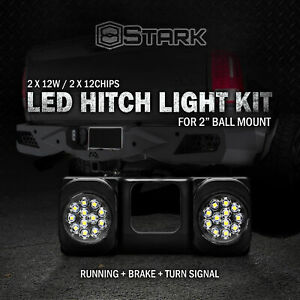 Led Tow Hitch Light Running Dual Brake Signal Function Truck Suv 2 Receiver