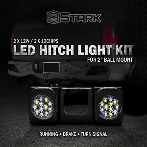 Led Tow Hitch Light Running Dual Brake Signal Function Truck Suv 2 Receiver A