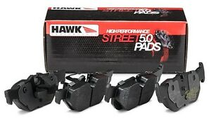 Hawk Street 5 0 Brake Pads Front Rear Set For 2004 2008 Acura Tsx