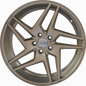 4 Gwg Wheels 20 Inch Bronze Razor Rims Fits Mitsubishi Lancer Evolution 2008 15