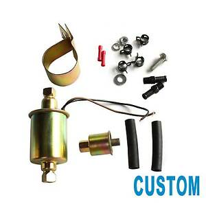 New Universal 2 5 4 5 Psi In Line External Electric Fuel Pump W Installation Kit