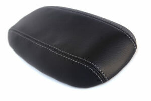Console Armrest Leather Synthetic Cover For Ford Mustang 94 04 Gray Stitch