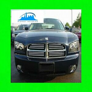 2006 2010 Dodge Charger Chrome Trim For Grill Grille 5yr Warranty