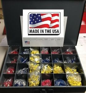 Master Wire Connectors Terminals Assortment Kit All Types Usa Made 2400 Pcs