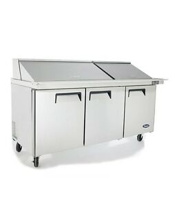 Atosa 72 Commercial Mega Top Salad Sandwich Prep Table Cooler Msf8308