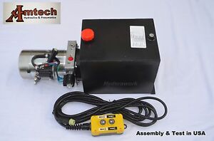 4215s Hydraulic Power Unit Hydraulic Pump 12v Double Acting 15qt dump Trailer
