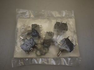 lot Of 5 New Eaton 7592k6 Switch Toggle Dpdt 6a 250v