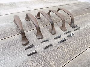 5 Cast Iron Handles Rustic Drawer Pulls 5 1 2 Long W Screws Pull Handle Wow
