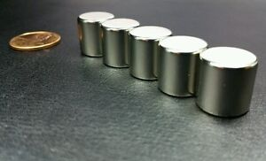 5 Neodymium N52 Cylinder Magnets Super Strong Rare Earth Disc 1 2 X 1 2