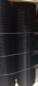 1x1 12 5g 72 x100 Black Pvc Coated Galvanized Wire Mesh Rolls gaw