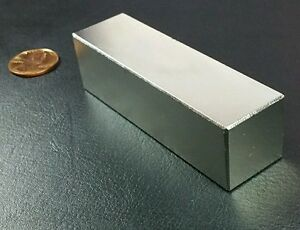 One Huge N52 Neodymium Block Magnet Super Strong Rare Earth 3 Bar Over 5k Gauss