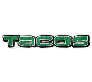 Tacos I Concession 36 Decal Mexican Restaurant Taco Sign Cart Trailer Sticker