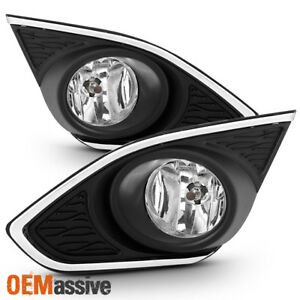 Fit 2013 2014 2015 Chevy Spark Clear Bumper Fog Lights Lamp Replacement W switch