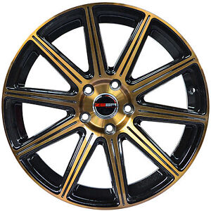 4 Gwg Wheels 18 Inch Bronze Mod Rims Fits Volvo V70 Awd 2000