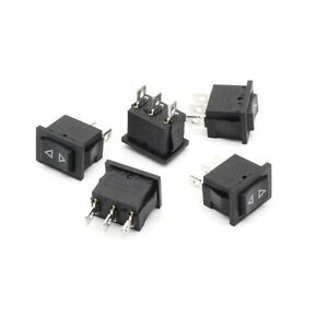 5x Mini Momentary Rocker Switch 3 Pin Spring Hoist Window Temporary Up Down Type